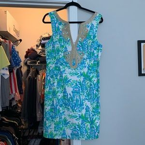 Lily Pulitzer lighthouse patterned dress size 10